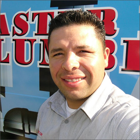 Erik Santibanez, licensed plumber, Dallas