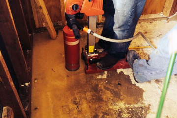 Core Drill Penetration For New Plumbing
