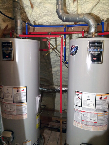 Dual Water Heater Install and New Plumbing Lines