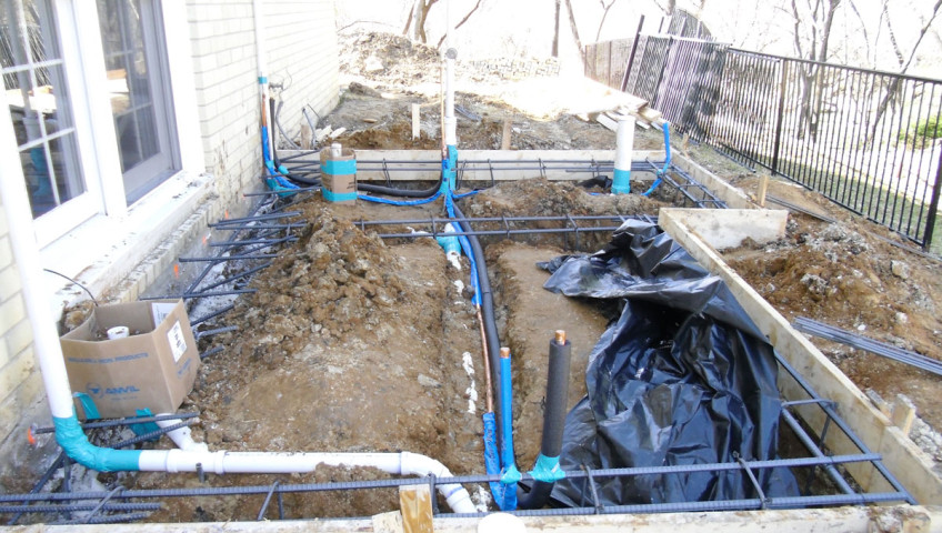 Plumbing rough-in for addition by Master Fix Plumbing