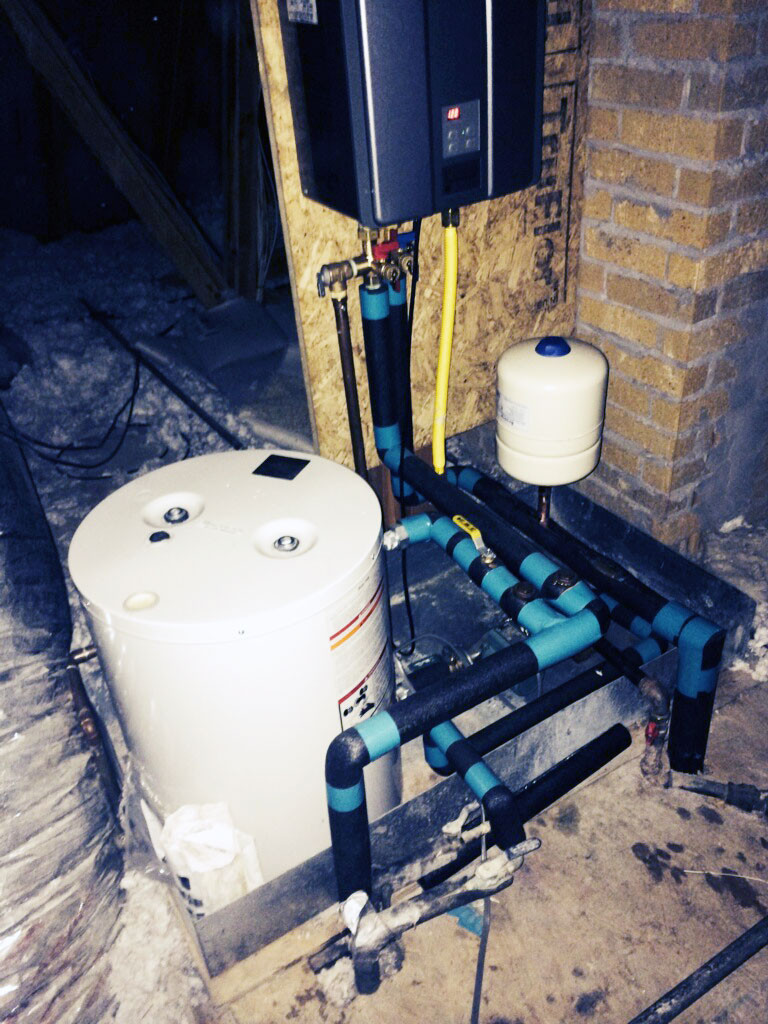 Tankless Water Heater with Hot Water Recirculation System