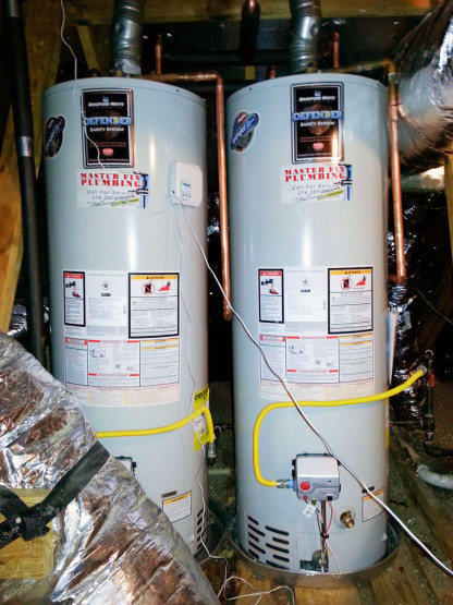 Dual Water Heater Install and Pipe Maintenance